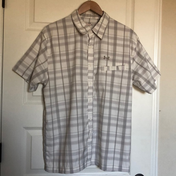 Under Armour Other - Under Armour Plaid Button Down Shirt Medium
